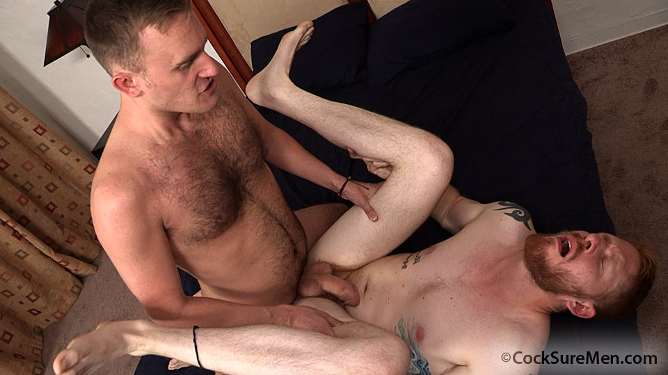 Cocksure Men Heath Anthony and Devan Bryant Redhead Gets Barebacked By Hairy Daddy Amateur Gay Porn 11 Heath Anthony Barebacks Devan Bryants Hairy Ginger Ass