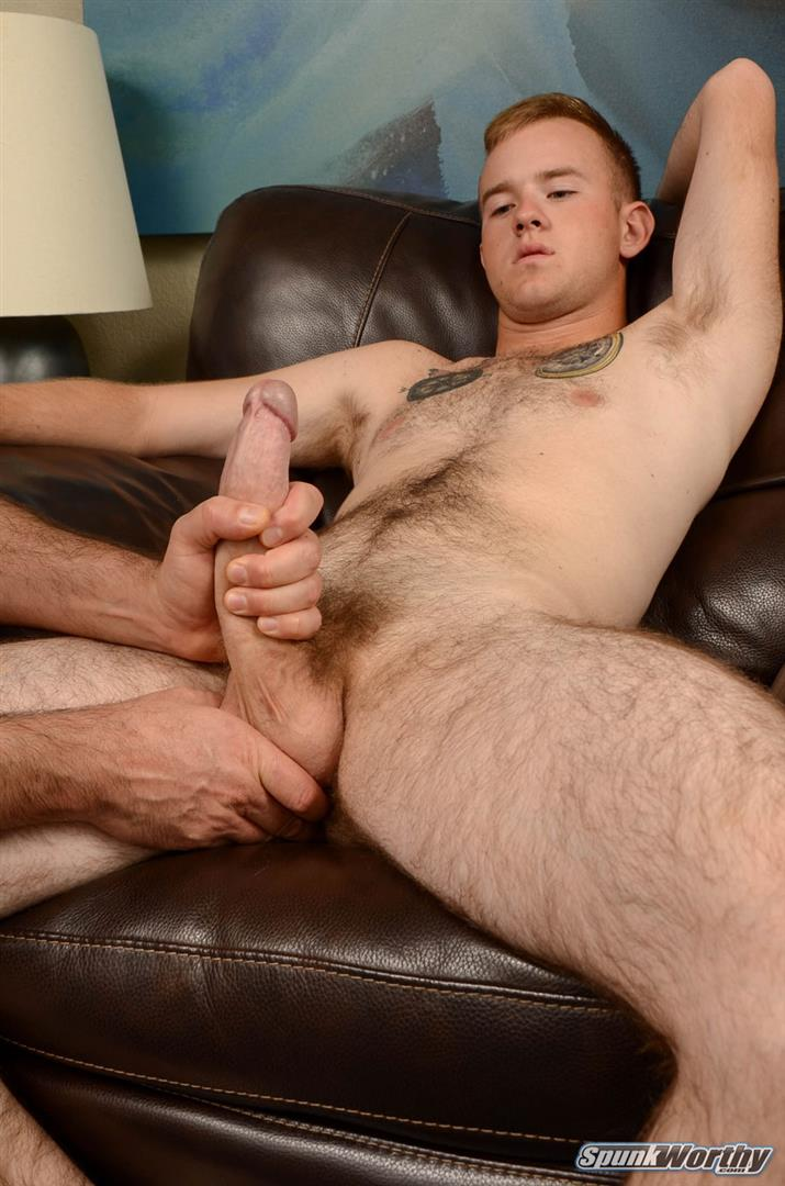SpunkWorthy-Koury-Marine-Gets-A-Blow-Job-and-Rimming-Amateur-Gay-Porn-05 Straight Hairy Marine Gets His Big Cock Sucked and Ass Rimmed