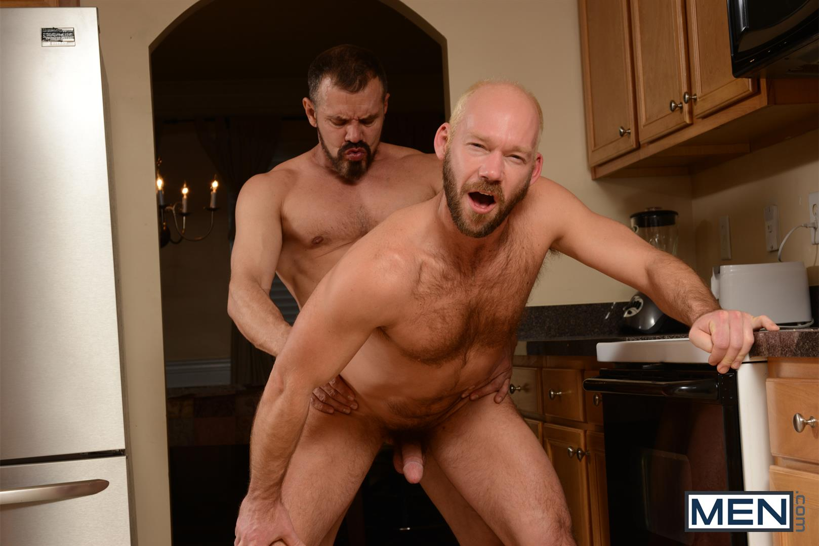 Men-Drill-My-Hole-Max-Sargent-and-Mike-Tanner-Thick-Cock-Daddys-Fucking-Amateur-Gay-Porn-12 Hairy Muscle Daddy's Fucking In The Kitchen And Eating Cum