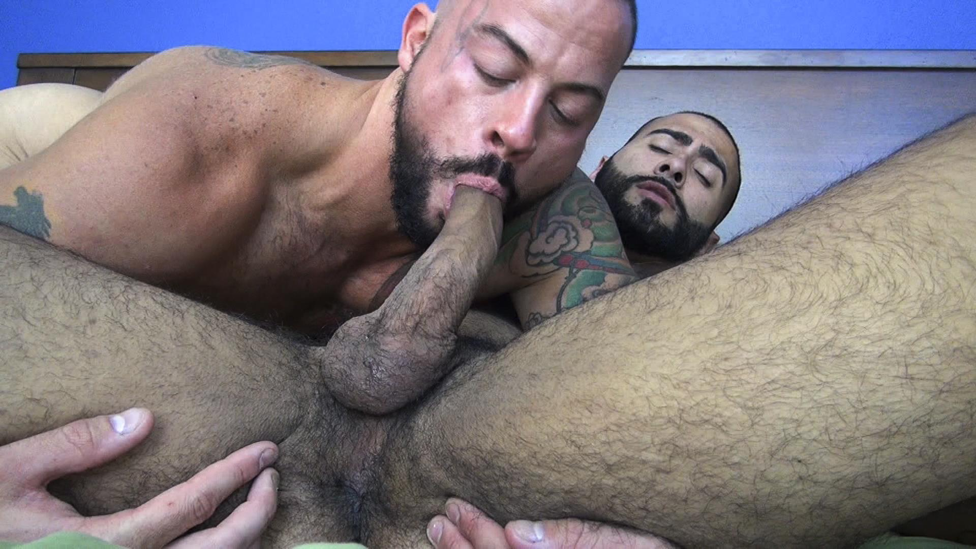 Raw-Fuck-Club-Rikk-York-and-Sean-Duran-Hairy-Muscle-Bareback-Amateur-Gay-Porn-3 Hairy Muscle Studs & Real Life Boyfriends Sean Duran & Rikk York Bareback