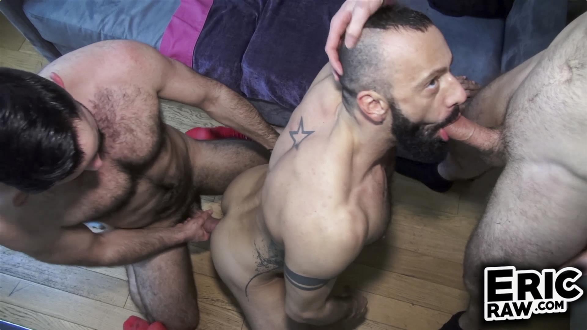 Eric Raw Bareback Threesome Hairy Muscle Hunks Amateur 06 Bareback Fuck Date With Three Hairy Muscular Jocks