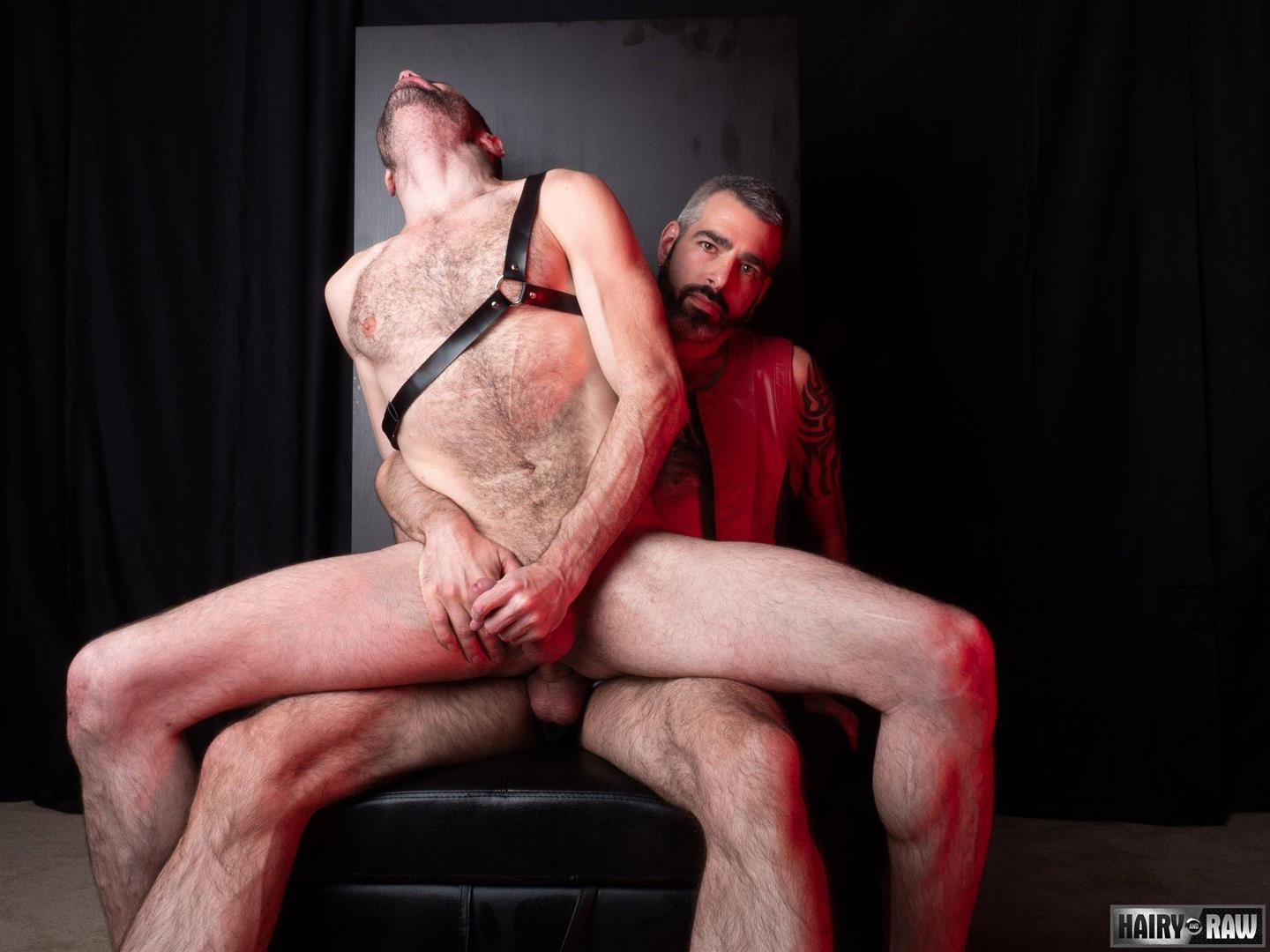 Hairy-and-Raw-Rex-Hunter-and-Dusty-Williams-Hairy-Leather-Daddy-Big-Uncut-Cock-Bareback-Video-22 Dusty Williams Begs For Daddy Rex Hunter's Big Uncut Cock To Breed His Ass