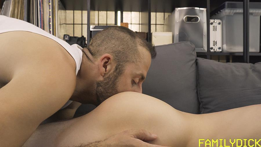 Familiy-Dick-Kurt-Norris-and-Joel-Someone-Big-Dick-Daddy-Fucking-His-Twink-Bareback-05 Twink Boy Gets Fucked Raw In Daddy's Man Cave